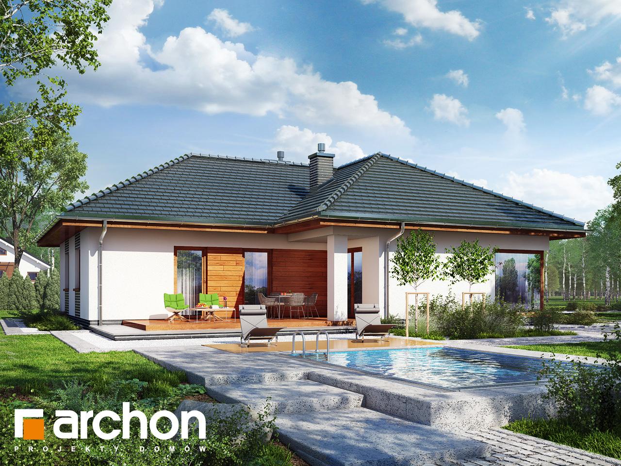 Проект будинку ARCHON+ Будинок в раванах