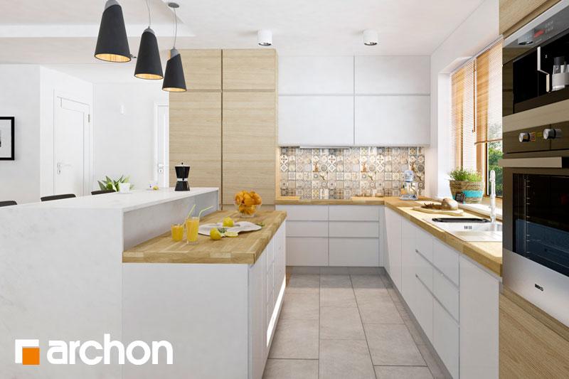 Проект будинку ARCHON+ Будинок в раванах візуалізація кухні 1 від 1