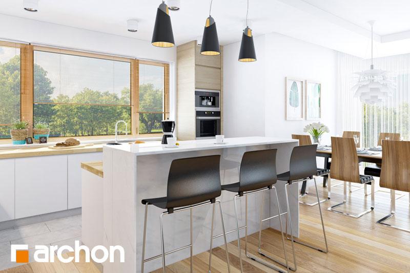 Проект будинку ARCHON+ Будинок в раванах візуалізація кухні 1 від 2