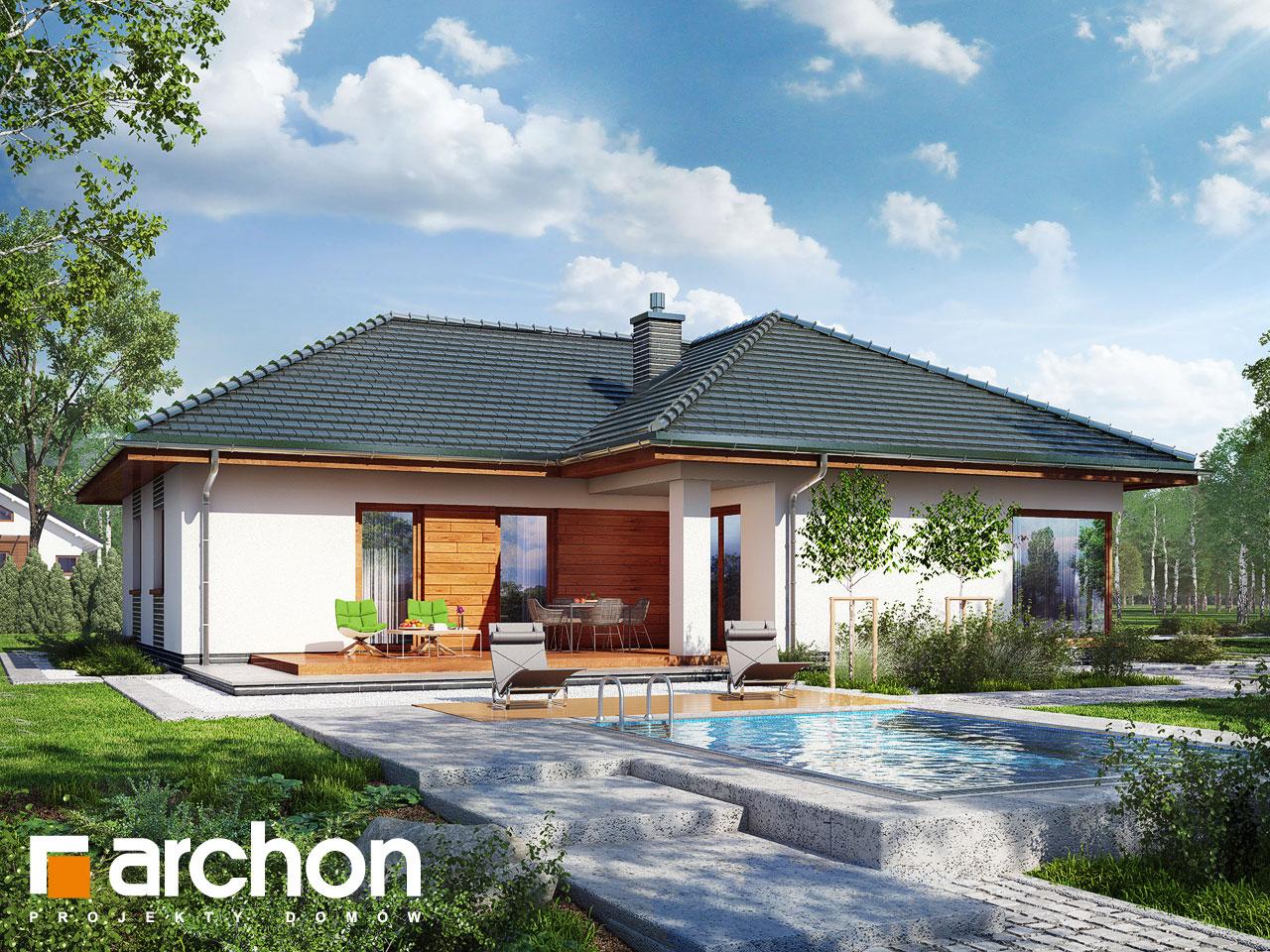 Проект будинку ARCHON+ Будинок в раванах Вид 2