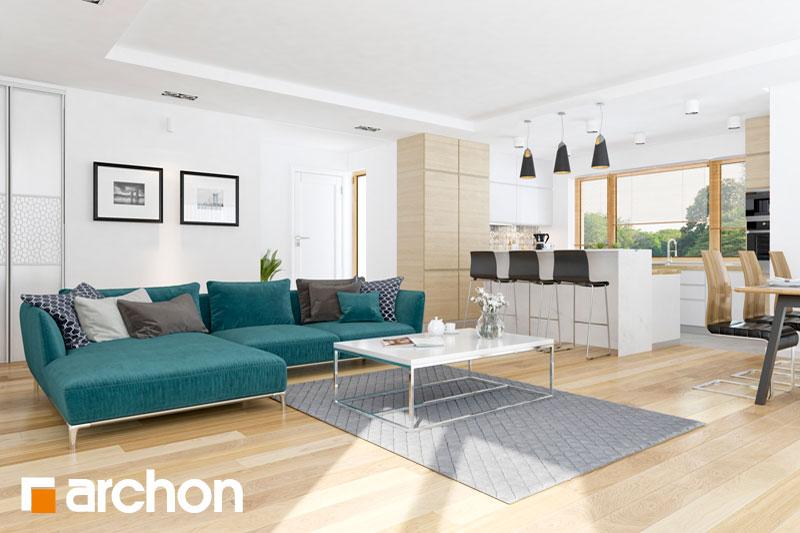 Проект будинку ARCHON+ Будинок в раванах денна зона (візуалізація 1 від 1)