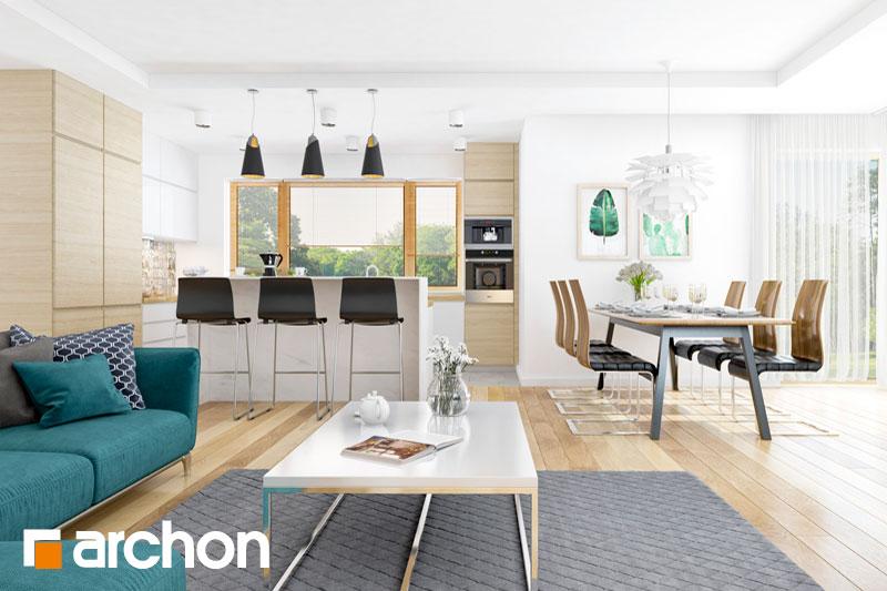 Проект будинку ARCHON+ Будинок в раванах денна зона (візуалізація 1 від 2)