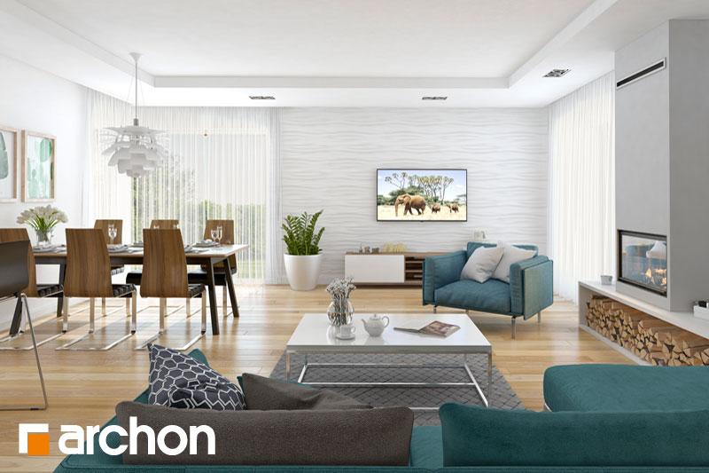 Проект будинку ARCHON+ Будинок в раванах денна зона (візуалізація 1 від 3)