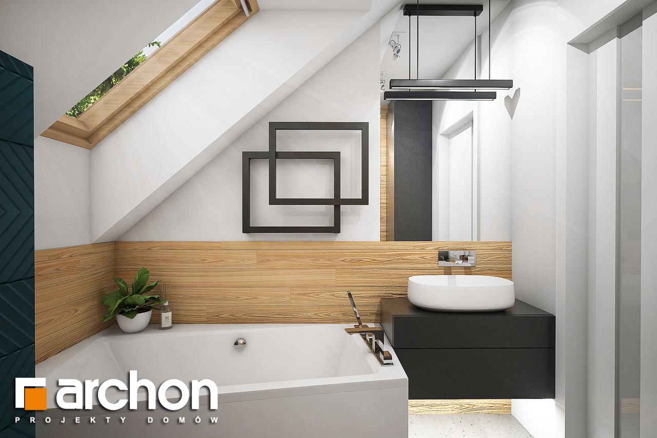 Проект будинку ARCHON+ Будинок в брусниці (Н) візуалізація ванни (візуалізація 3 від 1)