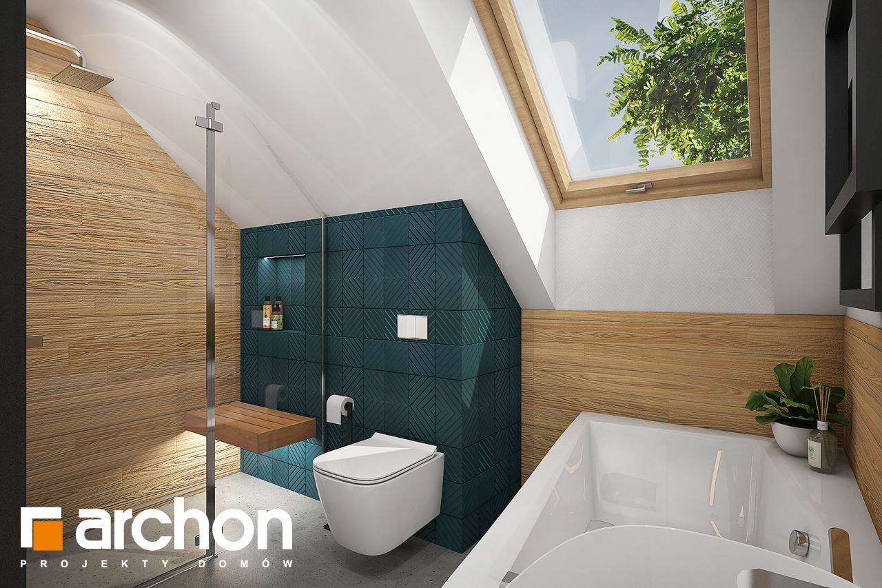 Проект будинку ARCHON+ Будинок в брусниці (Н) візуалізація ванни (візуалізація 3 від 2)