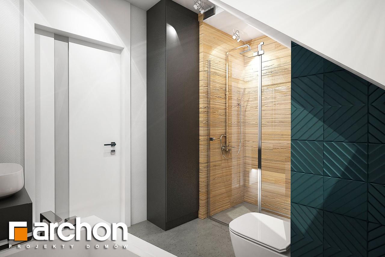 Проект будинку ARCHON+ Будинок в брусниці (Н) візуалізація ванни (візуалізація 3 від 3)