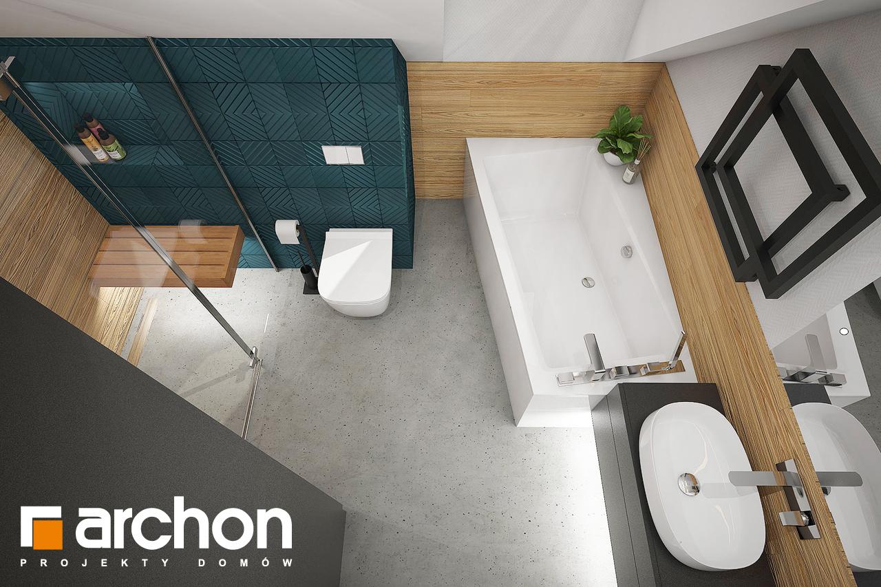 Проект будинку ARCHON+ Будинок в брусниці (Н) візуалізація ванни (візуалізація 3 від 4)