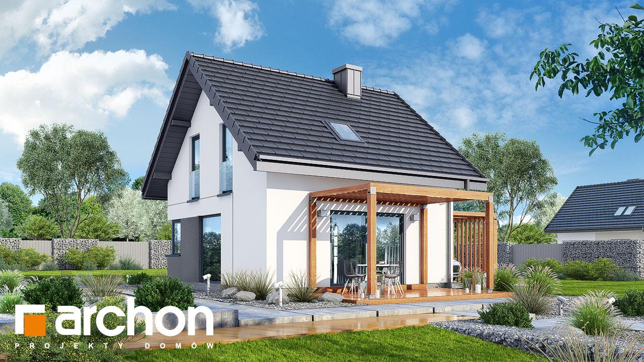 Проект будинку ARCHON+ Будинок в брусниці (Н) Вид 2