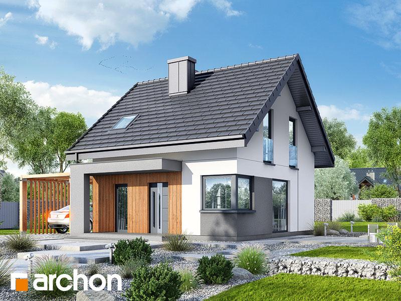 Проект будинку ARCHON+ Будинок в брусниці (Н) Вид 1