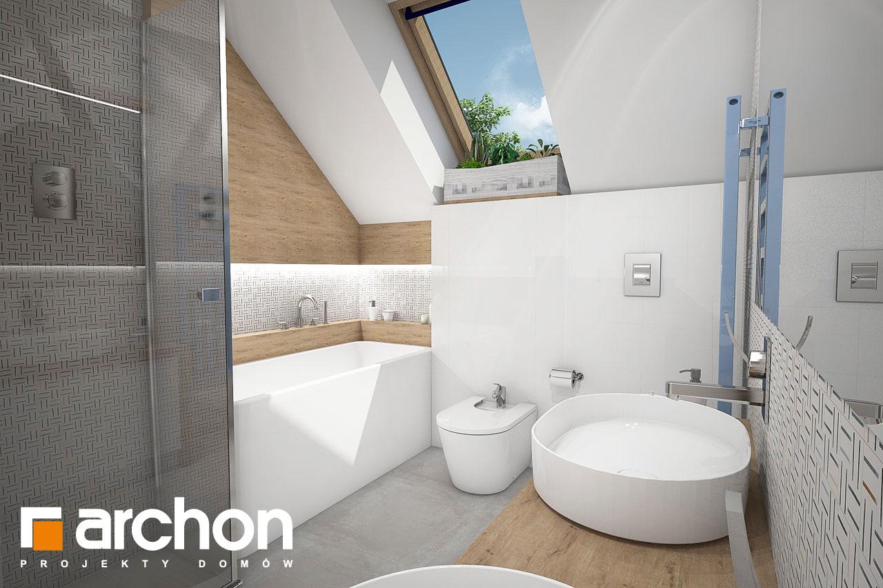 Проект будинку ARCHON+ Будинок в малинівці 3 візуалізація ванни (візуалізація 3 від 1)