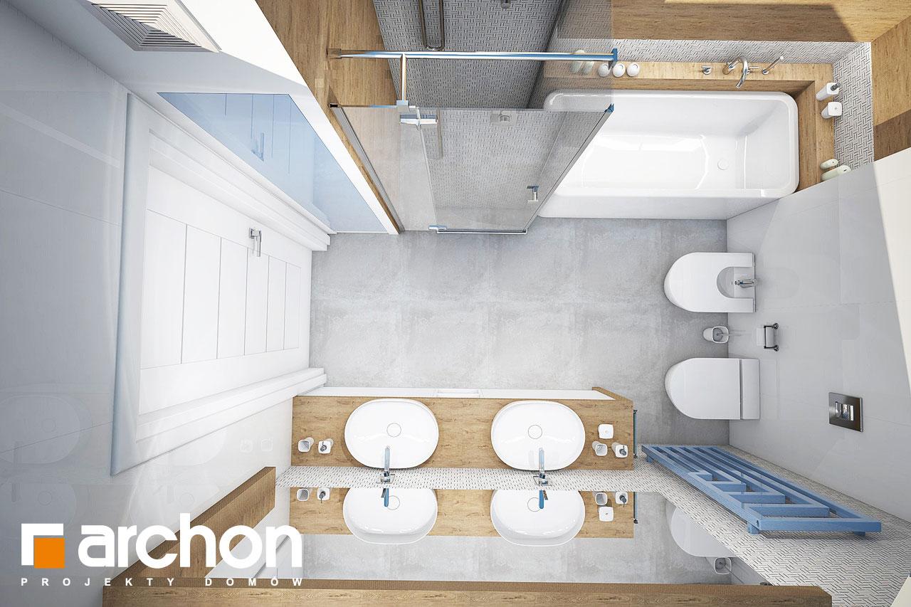 Проект будинку ARCHON+ Будинок в малинівці 3 візуалізація ванни (візуалізація 3 від 4)
