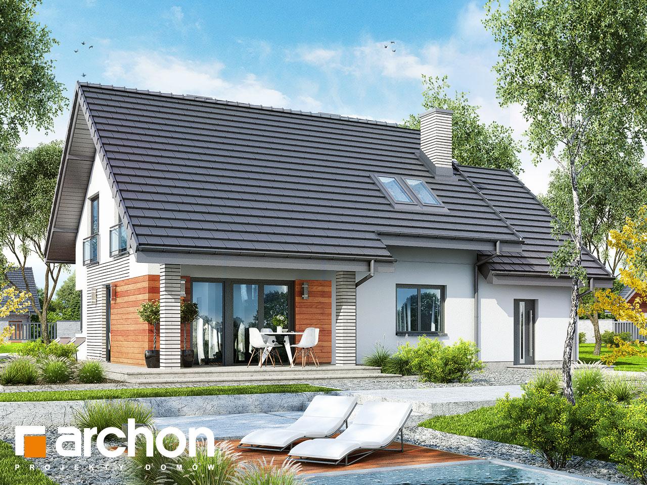 Проект будинку ARCHON+ Будинок в малинівці 3 Вид 2