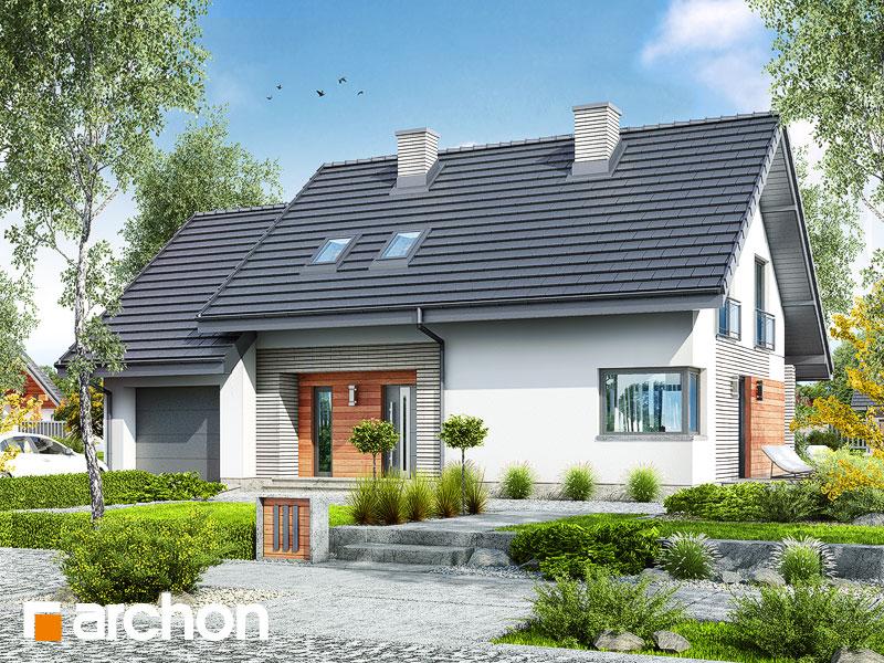 Проект будинку ARCHON+ Будинок в малинівці 3 Вид 1