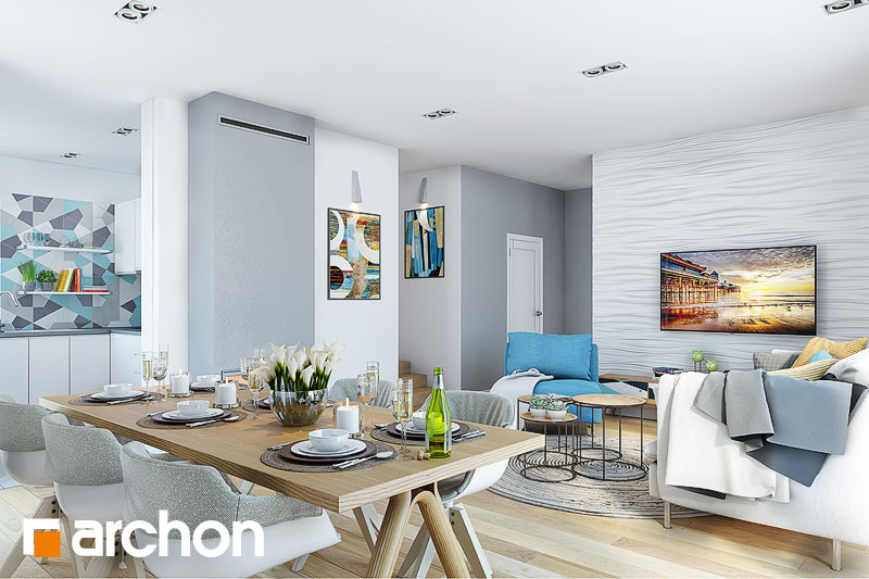 Проект будинку ARCHON+ Будинок в малинівці 3 денна зона (візуалізація 1 від 3)