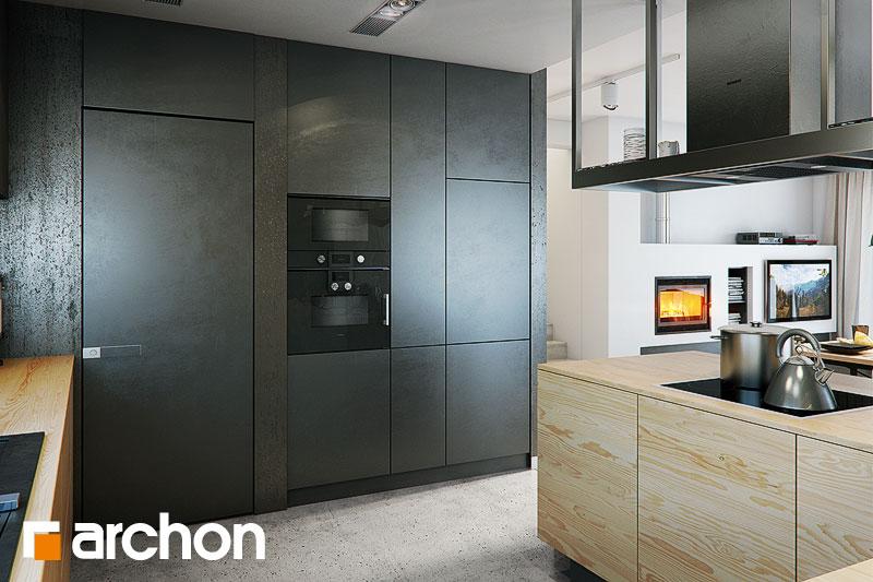 Проект дома ARCHON+ Дом под красной рябиной 17 (НТ) визуализация кухни 1 вид 2