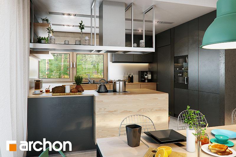 Проект дома ARCHON+ Дом под красной рябиной 17 (НТ) визуализация кухни 1 вид 3