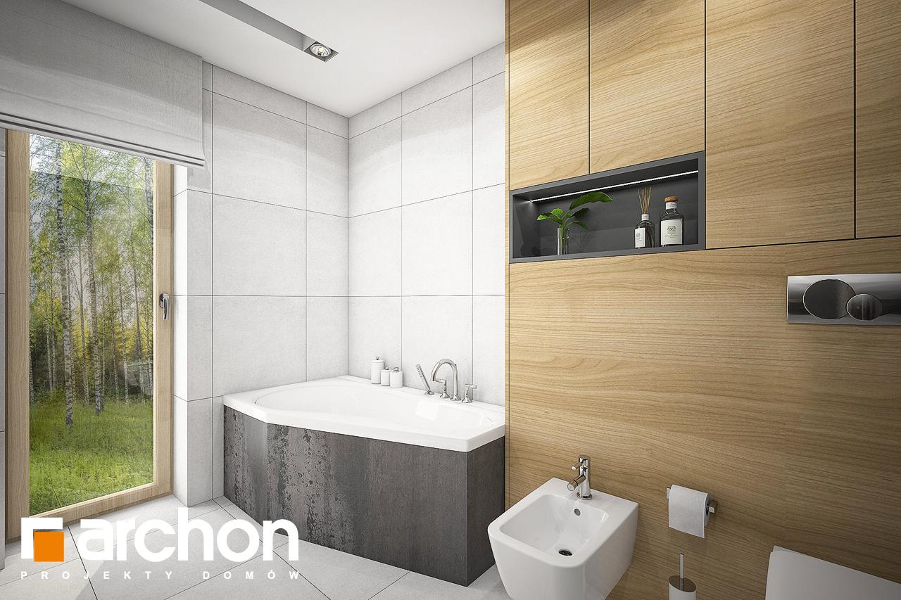 Проект будинку ARCHON+ Будинок під червоною горобиною 17 (НТ) візуалізація ванни (візуалізація 3 від 2)
