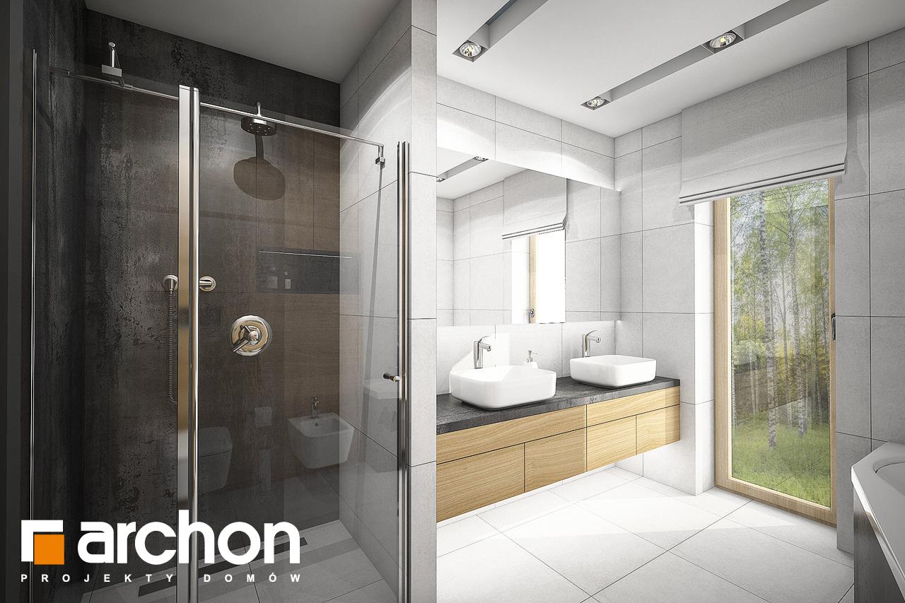 Проект дома ARCHON+ Дом под красной рябиной 17 (НТ) визуализация ванной (визуализация 3 вид 1)