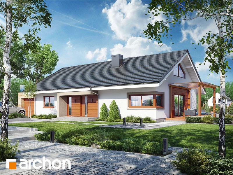Проект дома ARCHON+ Дом под красной рябиной 17 (НТ) Вид 1