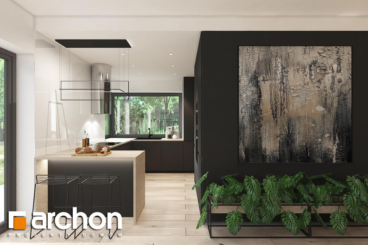 Проект будинку ARCHON+ Будинок в нарахнілах візуалізація кухні 1 від 1