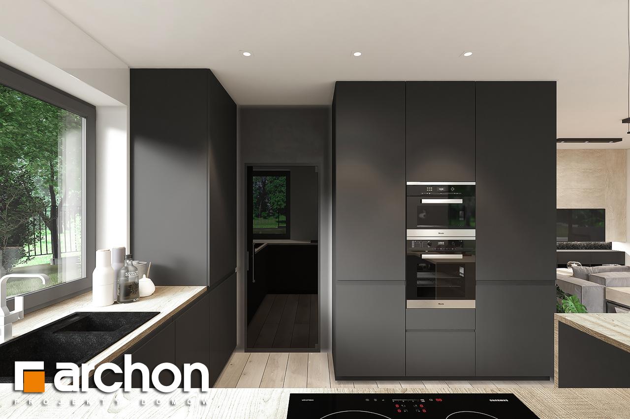 Проект будинку ARCHON+ Будинок в нарахнілах візуалізація кухні 1 від 2