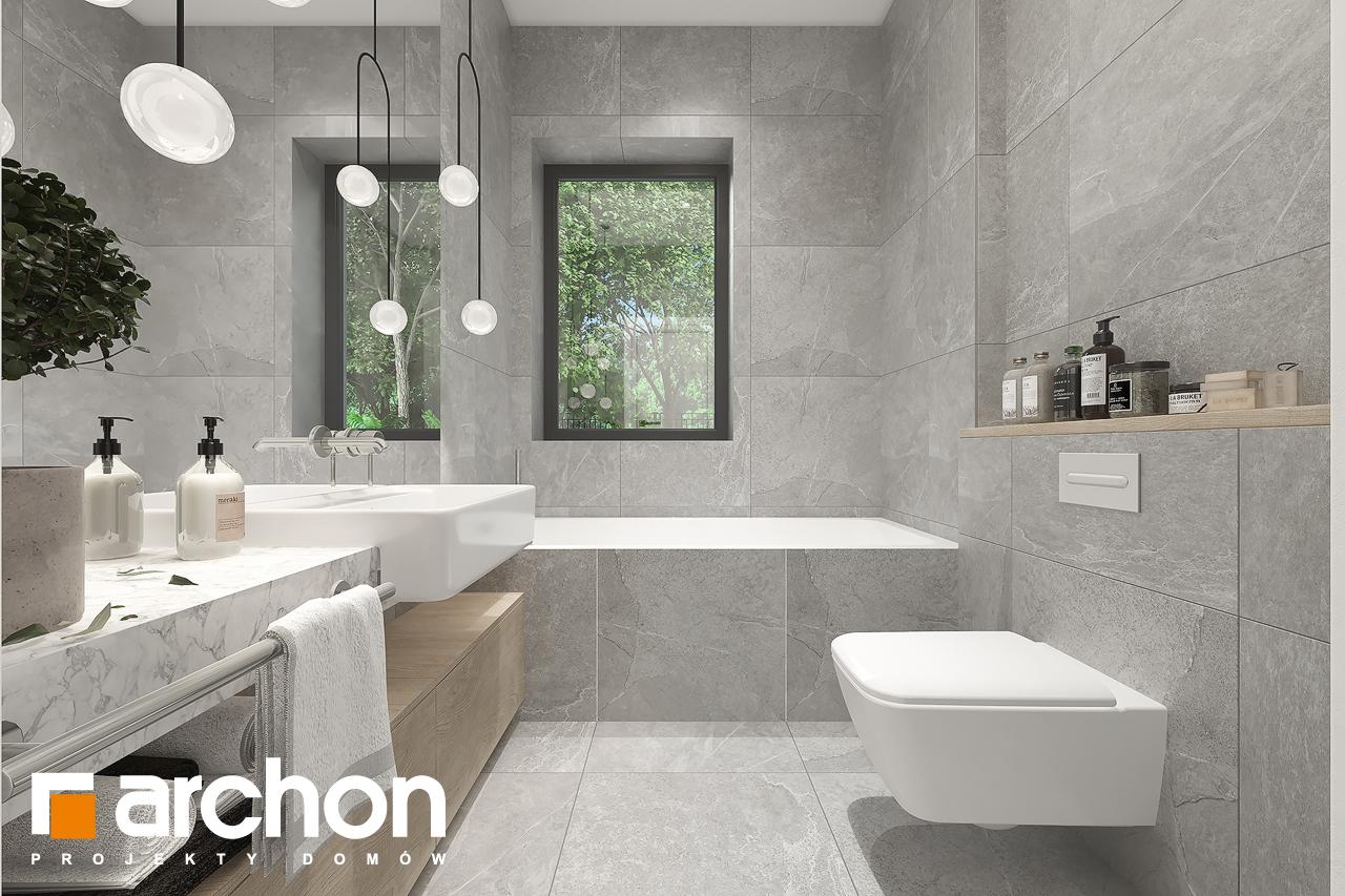 Проект будинку ARCHON+ Будинок в нарахнілах візуалізація ванни (візуалізація 3 від 1)