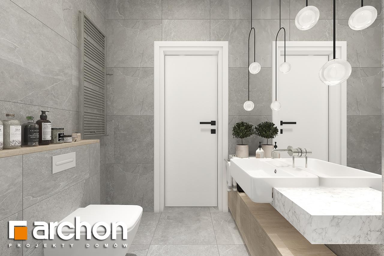 Проект будинку ARCHON+ Будинок в нарахнілах візуалізація ванни (візуалізація 3 від 2)