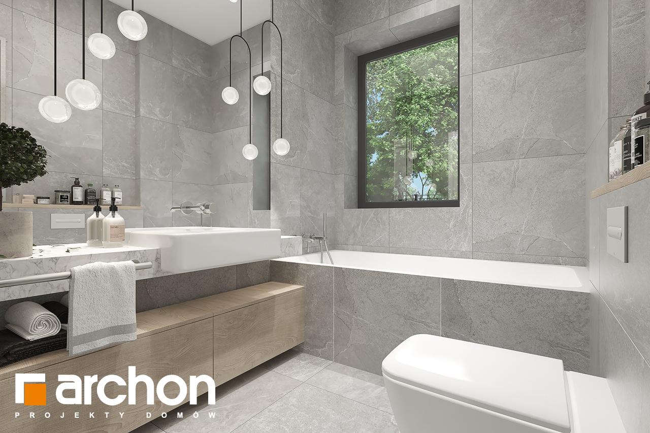 Проект будинку ARCHON+ Будинок в нарахнілах візуалізація ванни (візуалізація 3 від 3)