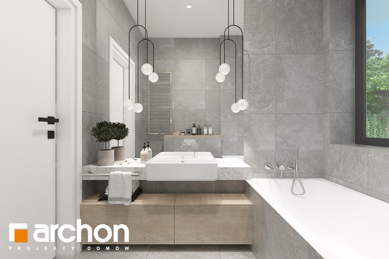 Проект будинку ARCHON+ Будинок в нарахнілах візуалізація ванни (візуалізація 3 від 4)