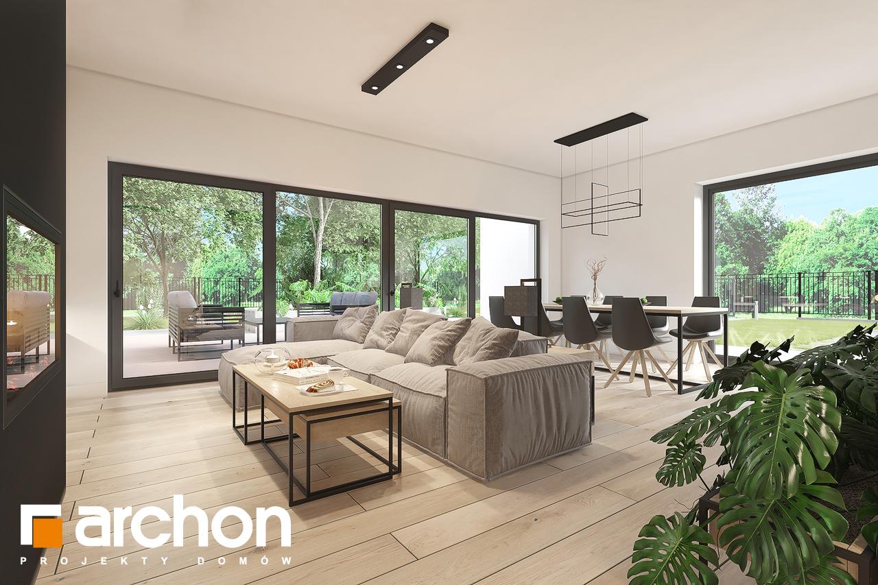 Проект будинку ARCHON+ Будинок в нарахнілах денна зона (візуалізація 1 від 3)