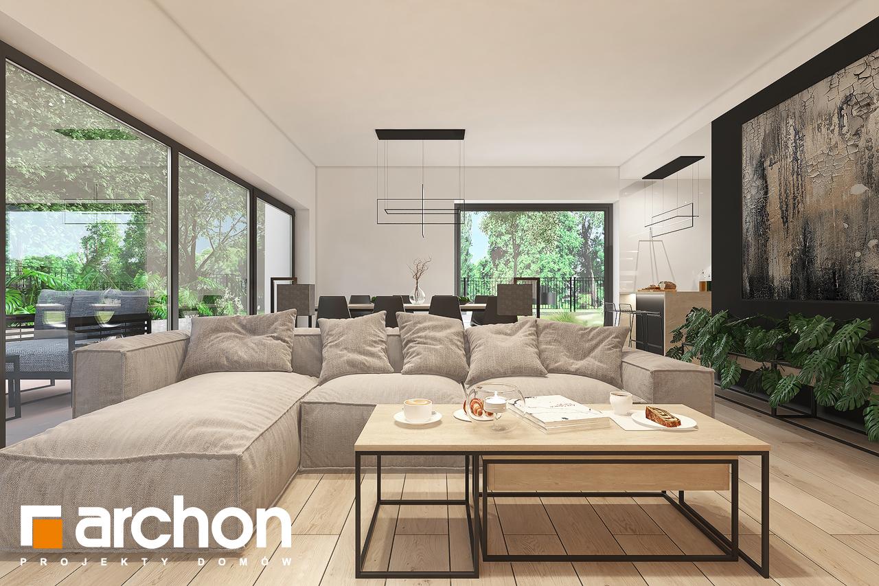 Проект будинку ARCHON+ Будинок в нарахнілах денна зона (візуалізація 1 від 4)
