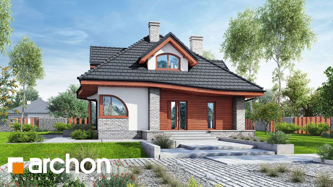Проект будинку ARCHON+ Будинок в зефірантесі 5 (П) Вид 2