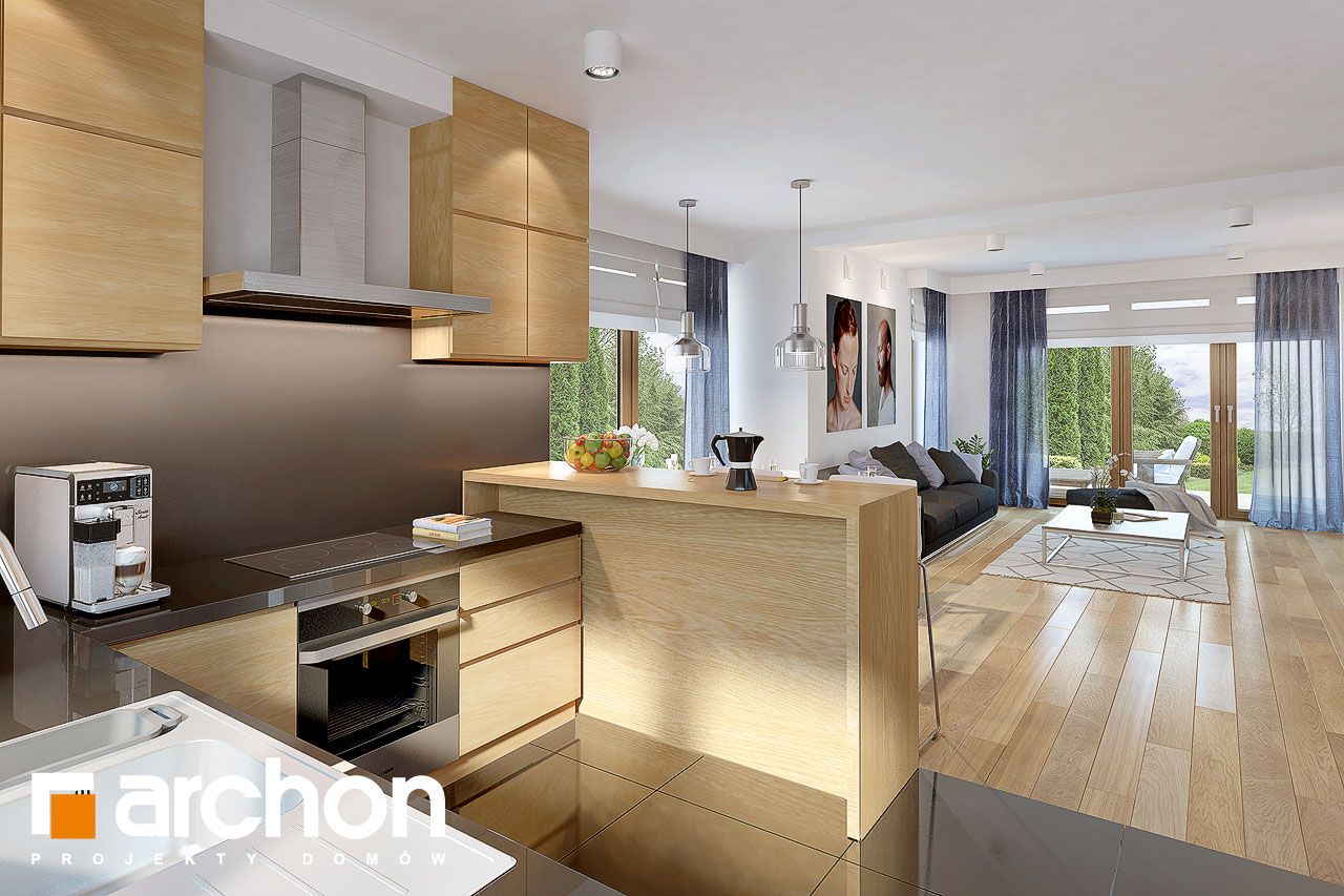 Проект будинку ARCHON+ Будинок в міловонках 2 візуалізація кухні 1 від 1