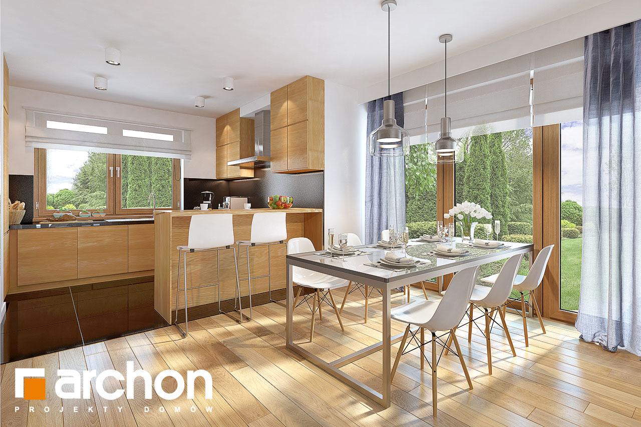 Проект будинку ARCHON+ Будинок в міловонках 2 візуалізація кухні 1 від 2