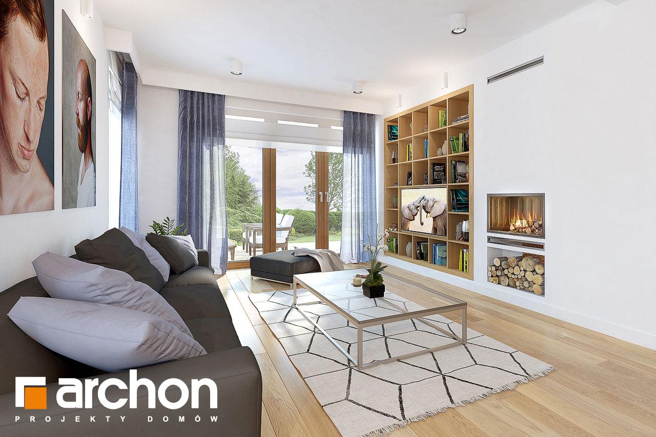Проект будинку ARCHON+ Будинок в міловонках 2 денна зона (візуалізація 1 від 2)