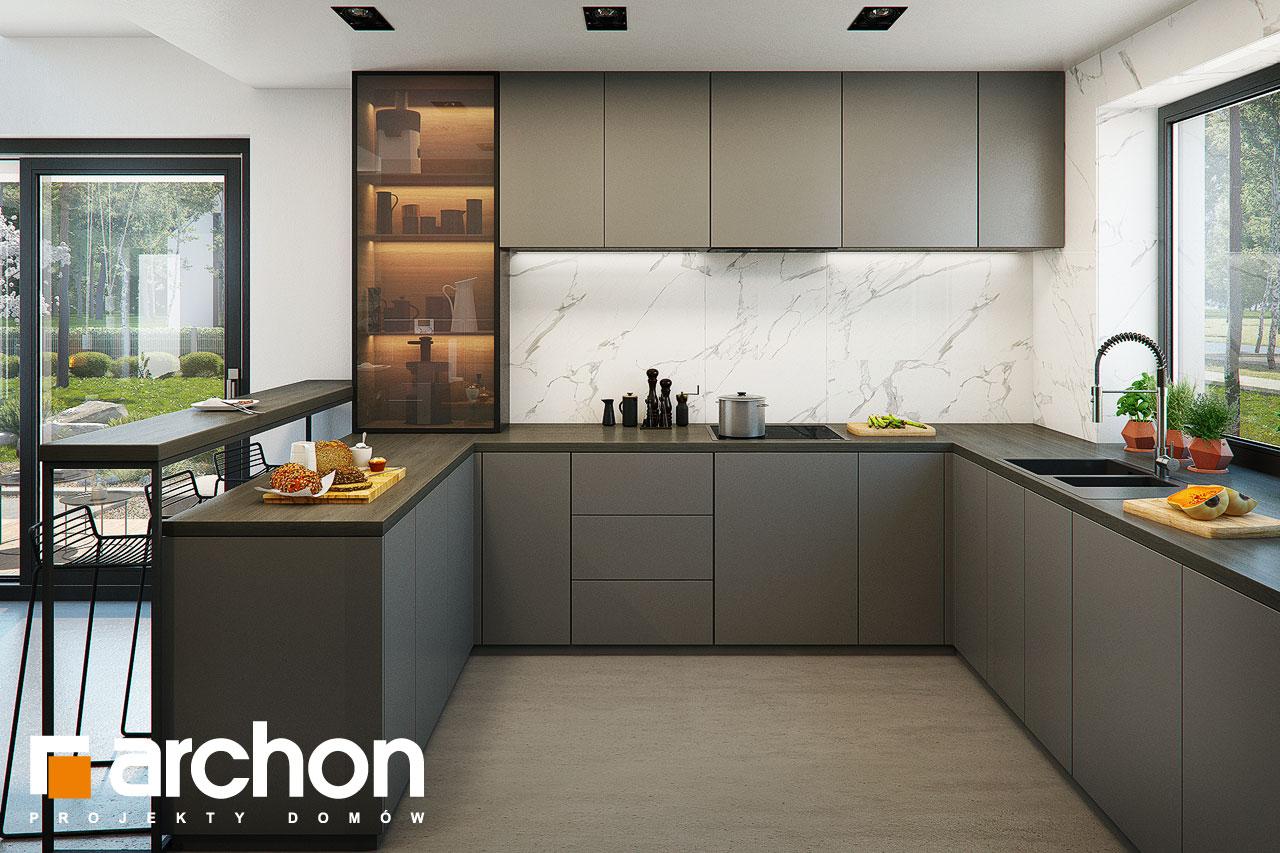 Проект будинку ARCHON+ Вілла Луна (Г2) візуалізація кухні 1 від 3