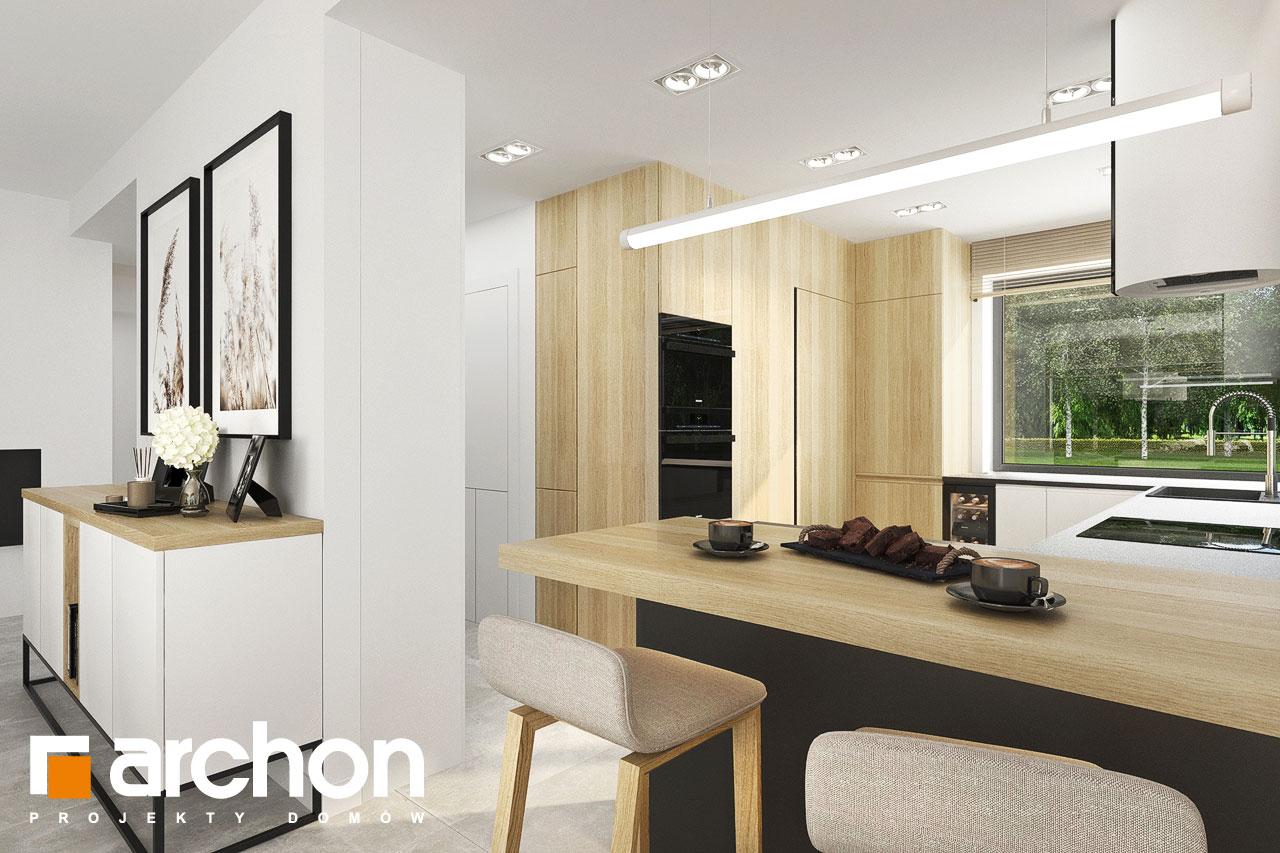 Проект будинку ARCHON+ Будинок в сантолінах 4 (Г2) візуалізація кухні 1 від 1