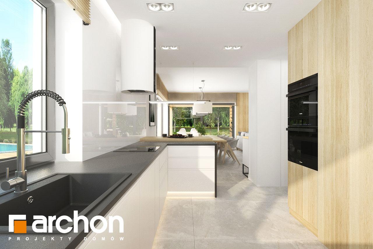 Проект будинку ARCHON+ Будинок в сантолінах 4 (Г2) візуалізація кухні 1 від 2