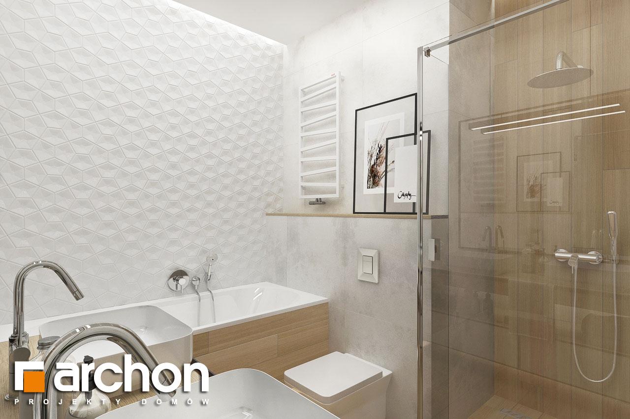 Проект будинку ARCHON+ Будинок в сантолінах 4 (Г2) візуалізація ванни (візуалізація 3 від 2)