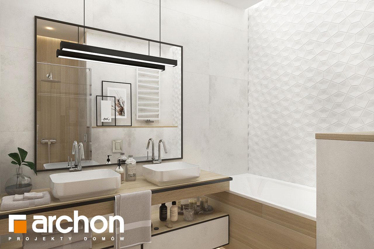 Проект будинку ARCHON+ Будинок в сантолінах 4 (Г2) візуалізація ванни (візуалізація 3 від 3)