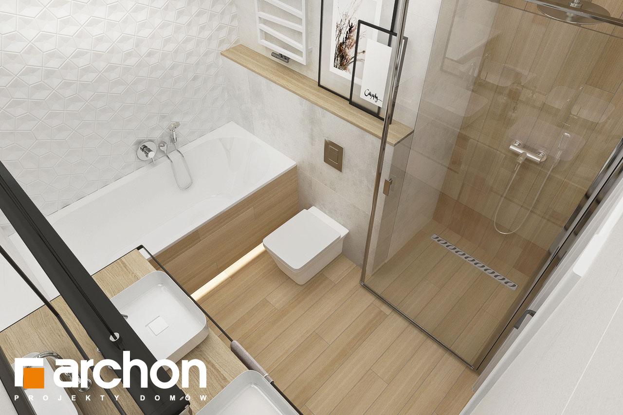 Проект будинку ARCHON+ Будинок в сантолінах 4 (Г2) візуалізація ванни (візуалізація 3 від 4)