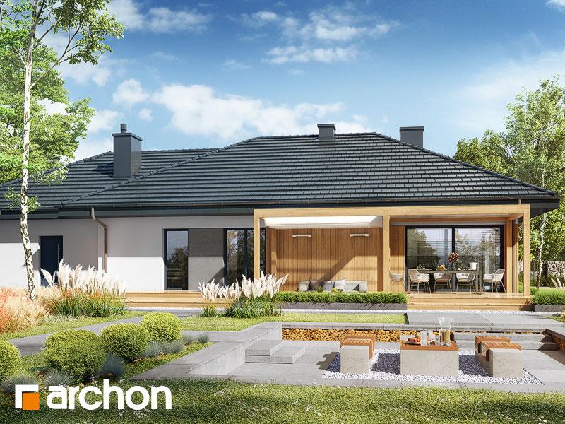Проект будинку ARCHON+ Будинок в сантолінах 4 (Г2) Вид 2
