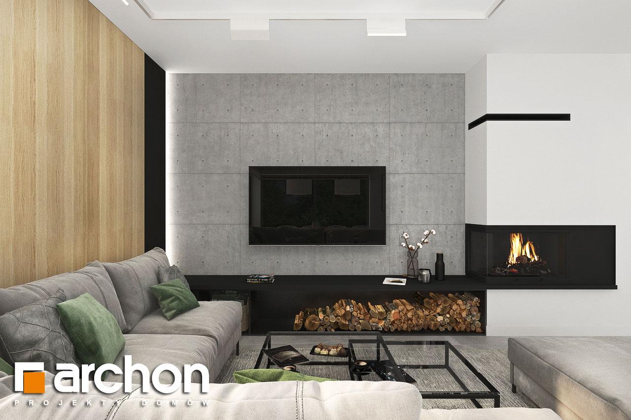Проект будинку ARCHON+ Будинок в сантолінах 4 (Г2) денна зона (візуалізація 1 від 1)