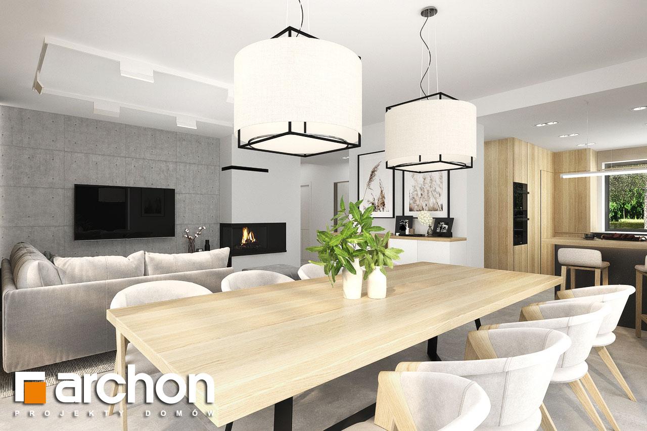 Проект будинку ARCHON+ Будинок в сантолінах 4 (Г2) денна зона (візуалізація 1 від 2)