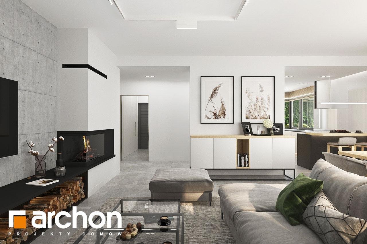 Проект будинку ARCHON+ Будинок в сантолінах 4 (Г2) денна зона (візуалізація 1 від 4)