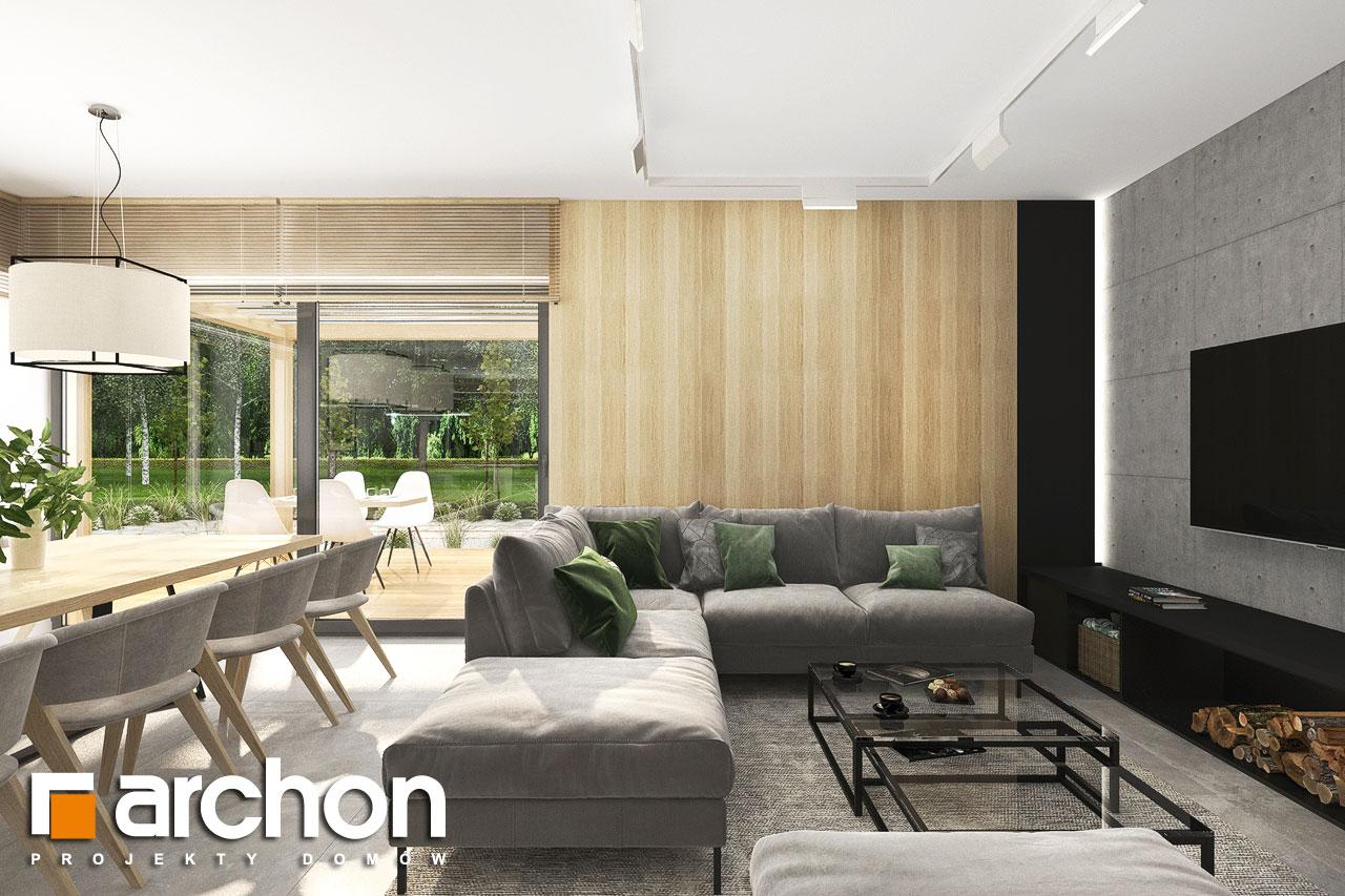 Проект будинку ARCHON+ Будинок в сантолінах 4 (Г2) денна зона (візуалізація 1 від 5)