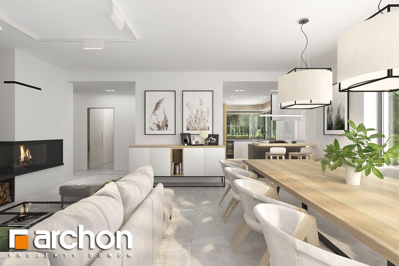 Проект будинку ARCHON+ Будинок в сантолінах 4 (Г2) денна зона (візуалізація 1 від 6)