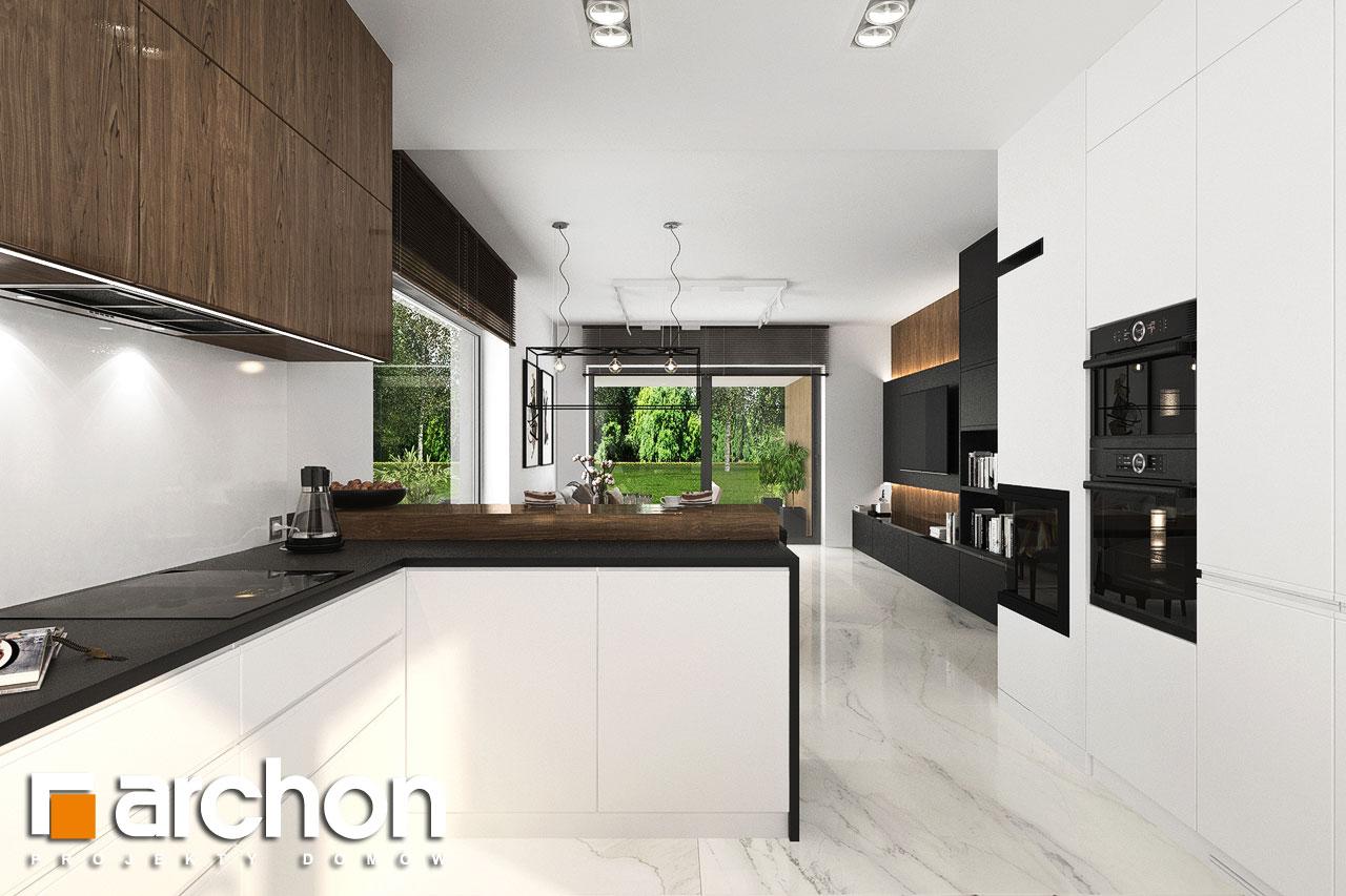 Проект будинку ARCHON+ Будинок в хакетіях 6 візуалізація кухні 1 від 2