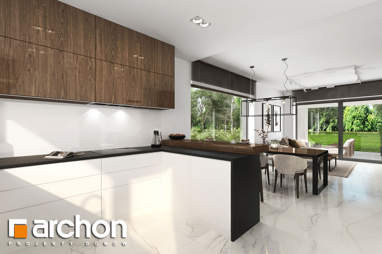 Проект будинку ARCHON+ Будинок в хакетіях 6 візуалізація кухні 1 від 3
