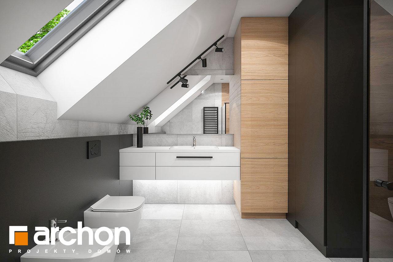 Проект будинку ARCHON+ Будинок в арлетах візуалізація ванни (візуалізація 3 від 1)
